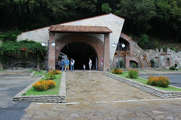 Wine tunnel entrance