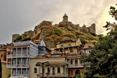 Tbilisi old city with fortress and church
