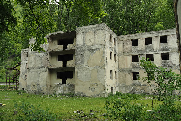 Abandoned Soviet era holiday flats - georgia