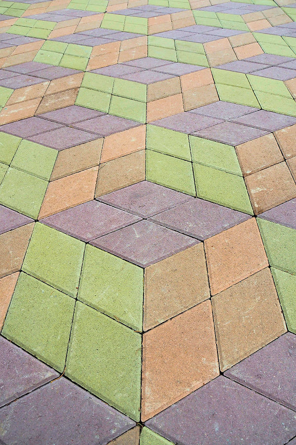 Climb the steps - paving pattern
