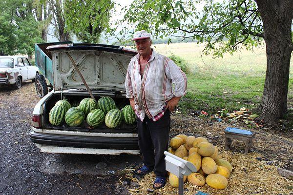 roadside melon seller