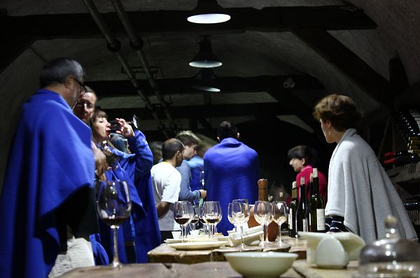 wine tasting in ex Soviet Tunnel